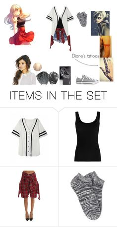 """""""Diane practicing softball with Annie- SNK oc Modern AU"""" by crazygirl5683 ❤ liked on Polyvore featuring art and modern"""