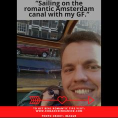 """Not Romantic : Marriage Meme- """"Sailing the romantic Amsterdam canal with GF!"""" - and she is asleep. For help with real romantic ideas checkout Romance Enhanced Consulting recent marriage blog on easy romantic tips! photo credit: Imagur #marriagememe #funnymarriagememe #romantichelp #romanticdate #notromantic How To Be Romantic, Romantic Ideas, Romantic Dates, Hopeless Romantic, Romantic Weekend Getaways, Romantic Getaway, Funny Marriage Meme, Let It Die, Pick Up Lines Cheesy"""