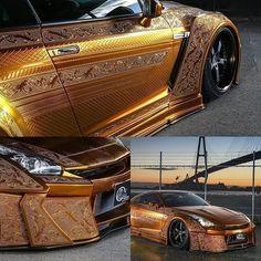 Nissan GT-R Рельефная роспись ARTIS 3D Ultimate Engraving Metal Paint! Авторы проекта - японские трудяги из конторы KUHL RACING