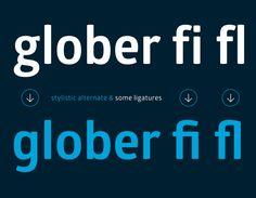Glober font by Fontfabric