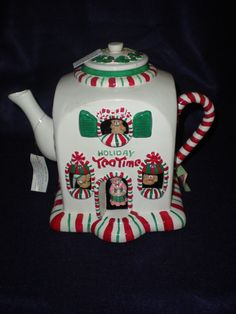 Mr Christmas Musical Holiday Tea Time Tea Pot