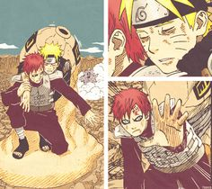 """""""I will definitely not let you die."""" --- And this is why we love Gaara and hate Sasuke, Gaara is what a friend is supposed to be: awesome :D"""