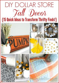15 ways to transform thrifty finds into DIY fall decor... that don't look like they came from The Dollar Store (but they did, shhhhh!)