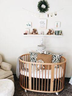 Stokke crib, baby neutral nursery, wooden blocks, little sapling toys Stokke Kinderbett, babyneutral Wooden Baby Crib, Wooden Cribs, Baby Room Boy, Baby Bedroom, Nursery Crib, Nursery Room Decor, Modern Baby Cribs, Modern Baby Furniture, Rustic Baby Rooms