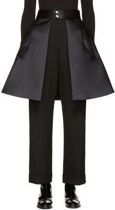 Noir Kei Ninomiya: Black Skirt Belt | SSENSE