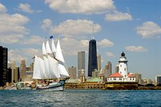 Windy-Sailing-Lighthouse, Navy Pier, Chicago USA