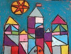 paul klee - cubism castles - 3rd grade
