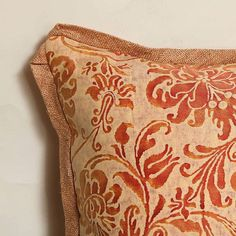 Cimarosa in Bittersweet // 5109  #fabric #textiles #pillow #home #classic #color #interiordesign #flowers #design #fortuny