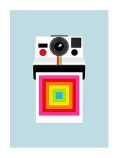 Polaroid poster print by yumalum