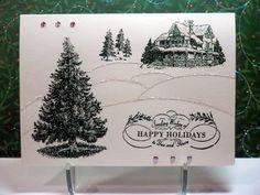 Christmas Lodge - Handmade Card by Susan Sieracki