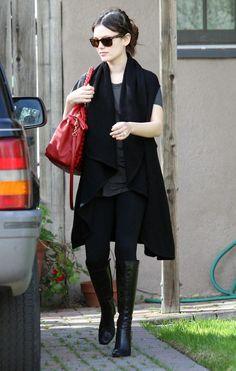 rachel bilson - Like it Gilet Kimono, Mode Chic, Rachel Bilson, Long Vests, Daily Dress, Fashion Outfits, Womens Fashion, Fashion Ideas, Dress For Success