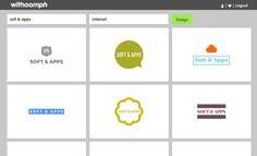 Withoomph es una herramienta en línea y gratuita para generar de forma automatizada logotipos para nuestra empresa, compañía o sitio web.