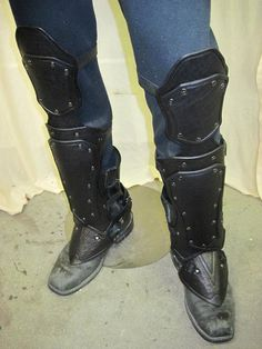 Nightingale Leather Armor Greaves by SharpMountainLeather on Etsy, $274.99