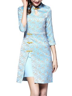 Интересно Source by fashion Model Dress Batik, Batik Dress, Simple Dresses, Beautiful Dresses, Casual Dresses, Cheongsam Modern, Blouse Batik, Oriental Fashion, Chinese Fashion