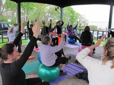 stability ball -awesome! great location for fitness- Martha's Vineyard