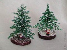 Дед Мороз принес нам елки Бисероплетение  - мастер класс фото