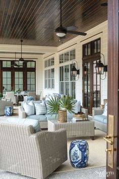 House Tour: The Enchanted (Second) Home - Design Chic Porch Furniture, Outdoor Furniture Sets, South Carolina, House With Porch, Southern Homes, Outdoor Rooms, Outdoor Living, House And Home Magazine, White Decor