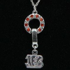 Cincinnati Bengals Ladies MVP Crystal Necklace