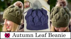 A video tutorial on how you can crochet the Autumn Leaf Beanie. It can complement your Autumn Leaf Cowl fantastically! It additionally works up good and thick to maintain you and your family members Knitting Yarn, Knitting Patterns, Crochet Patterns, Knitting Stitches, Crochet Beanie Hat, Crochet Hats, Chemo Caps Pattern, Diy Crafts Crochet, Crochet Projects
