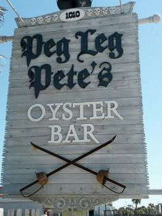 Pensacola Beach Florida. Ate here with Tren & Emmie July 2012