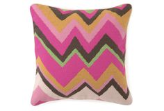 Tina Turk Zig Zag Pillow! This needlepoint pillow is adorable, love!