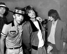 classicrocklives:  Tommy Shannon, Stevie Ray Vaughan, Mick Jagger and Ron Wood