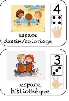 les espaces d'activités et de jeux Back To School Activities, Teacher Tools, Montessori, Classroom, Education, Math, Comics, Kids, Kindergarten Classroom