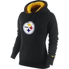 Nike Tailgater Fleece NFL Pittsburgh Steelers Women's Hoody - Black,... ($48) ❤ liked on Polyvore