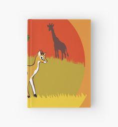 Little Gazelle Hardcover Journal #gazelle #animals #africa #safari #giraffe by thekohakudragon