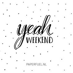 Yesss baby, it's weeeeekend! So for a change we are going out for a surprise dinner!! Yum, yum! Tomorrow we play tennis indoor and later we are invited for a party at friends! And did you hear.... Sunday it will be 20 degrees!! Oh my... Enjoy your weekend! What are your plans? :-) #lettering #handmade #handdrawn #handdrawntype #handlettering #type #ilovetype #typography #illustration #drawing #sketch #weekend #sakura #micron #paperfuel