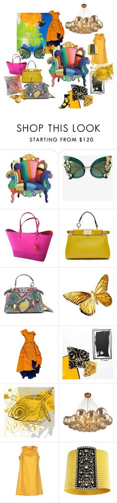 """""""Mixed Colors"""" by irenaorlov on Polyvore featuring Cappellini, Dolce&Gabbana, Kate Spade, Fendi, Maticevski, Marmont Hill and Hope Collection"""