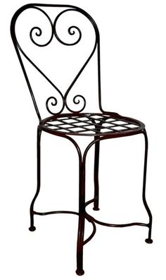 "Hermosillo forged iron chair for veranda, rustic patio and garden. It is hand crafted in black iron, rusted and natural finishing. Forged Iron Chair ""Hermosillo"" by Rustica House."