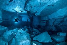 Underwater cave diving.  This would be both terrifying and amazing