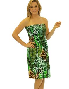 Check out the deal on Midi Smocked Top Sexy Leopard Aloha Dress at Shaka  Time Hawaii 697dbcbc1e6d