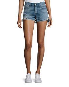 3X1 W2 Mid-Rise Boyfriend Denim Shorts, Palm. #3x1 #cloth #