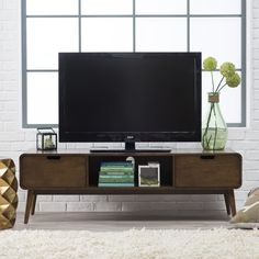 Belham Living Carter Mid Century Modern TV Stand - TV Stands at Hayneedle