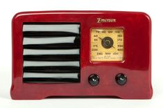 "Oxblood Emerson AX-235 Catalin ""Little Miracle"" 1938 Art Deco Radio"