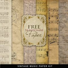 free vintage music paper - for when you want to make a craft without destroying real sheet music to do so.