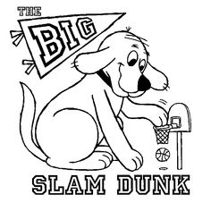 its easy for clifford to slam dunk when hes bigger than the basketball hoop keywords