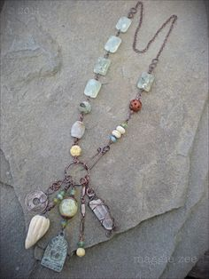 Peace and Possibility Shaman Amulet Necklace by maggiezees on Etsy