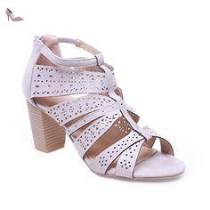La Modeuse - Sandales en suédine femme - Chaussures la modeuse (*Partner-Link)