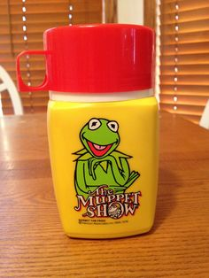Vintage Muppet Show Thermos W/ Kermit Frog 1978 by Seeley VGC