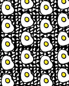 Eggs II. Pattern | yellow, black and white