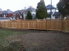 Wood fences made by us.