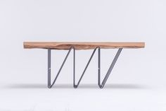 """MASIV OAK table is a unique piece of art. A table that we could call a """"Statement"""", a """"Sculpture"""",  a """"Dream"""".  MASIV  is a study in contrasts between warm and cold materials, smooth-graphic and rough-solid elements. www.stfurniture.com"""