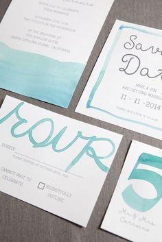 How to watercolor your wedding stationary! | Studio Eleven Photography on @sturquoiseblog