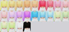 Cropped Sweater at Kalewa-a via Sims 4 Updates