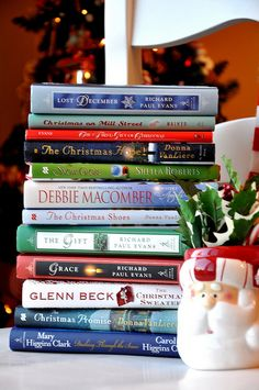 Christmas reading...every year on my birthday (which is right around Thanksgiving) I always ask for a new Christmas book to kick off the season! :)
