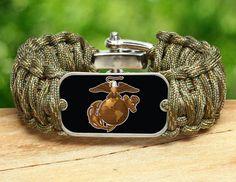Wide Survival Bracelet - Officially Licensed - USMC - Matches Multicam®