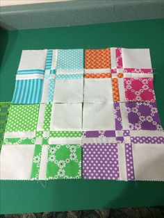 Disappearing Four Patch blocks